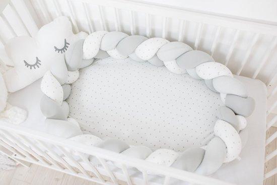 BUBABA Гнездо сиво/бяло плитка